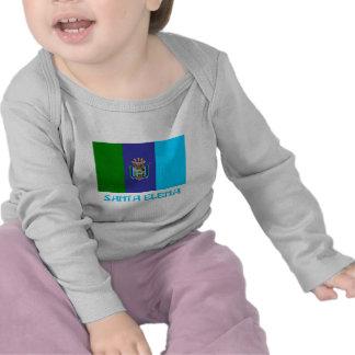 Bandera de Santa Elena con nombre Camiseta