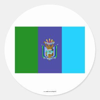 Bandera de Santa Elena Pegatina Redonda