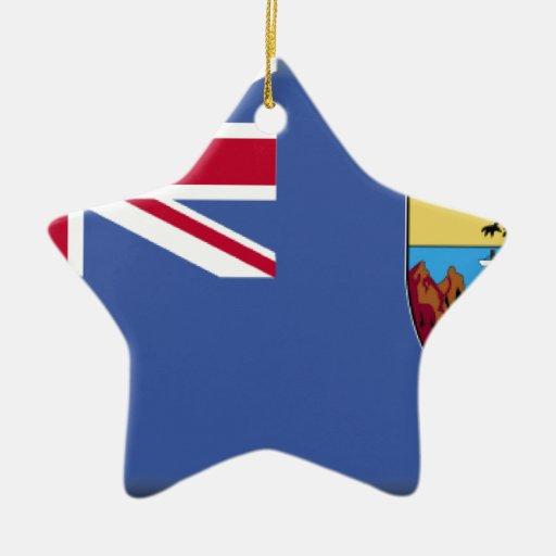 Bandera de Santa Helena Adorno Navideño De Cerámica En Forma De Estrella