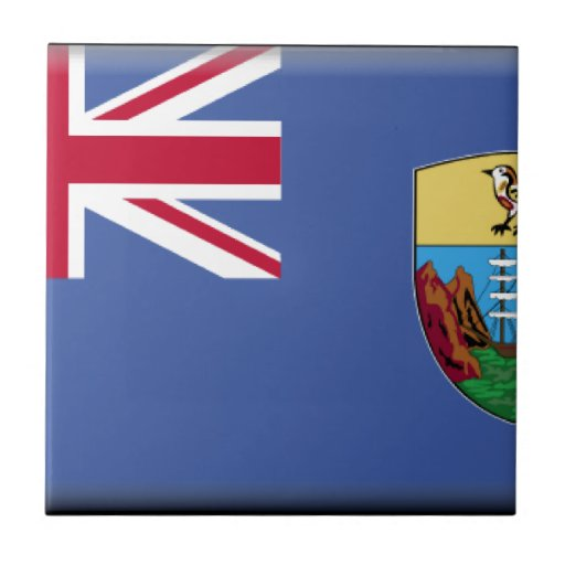 Bandera de Santa Helena Azulejos Cerámicos