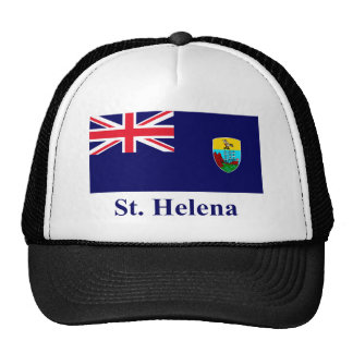 Bandera de Santa Helena con nombre Gorras De Camionero
