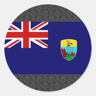 Bandera de Santa Helena Pegatina Redonda