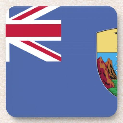 Bandera de Santa Helena Posavasos De Bebida
