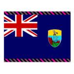 Bandera de Santa Helena Postales