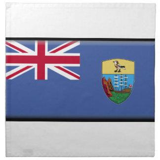 Bandera de Santa Helena Servilleta Imprimida