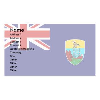 Bandera de Santa Helena Tarjeta De Visita