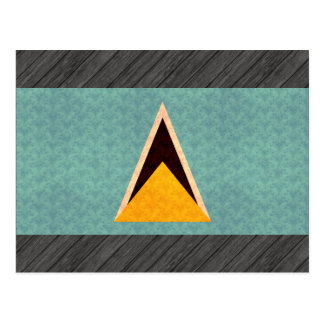 Bandera de santalucense del modelo del vintage tarjeta postal