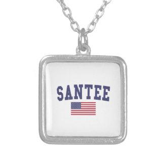 Bandera de Santee los E.E.U.U. Colgante Cuadrado