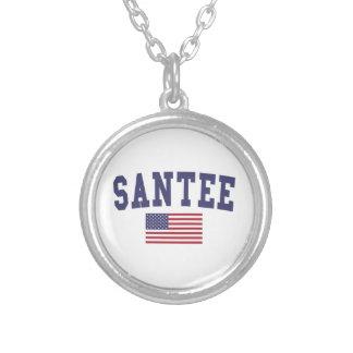 Bandera de Santee los E.E.U.U. Colgante Redondo