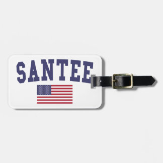 Bandera de Santee los E.E.U.U. Etiquetas Maleta