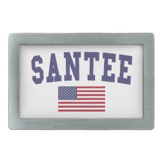 Bandera de Santee los E.E.U.U. Hebilla De Cinturón Rectangular
