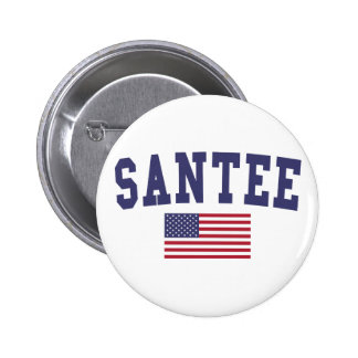 Bandera de Santee los E.E.U.U. Pin Redondo De 2 Pulgadas
