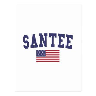 Bandera de Santee los E.E.U.U. Tarjeta Postal