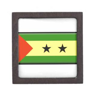 Bandera de Sao Tome Principe Caja De Joyas De Calidad