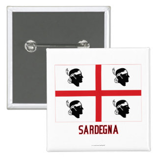 Bandera de Sardegna con nombre Pins