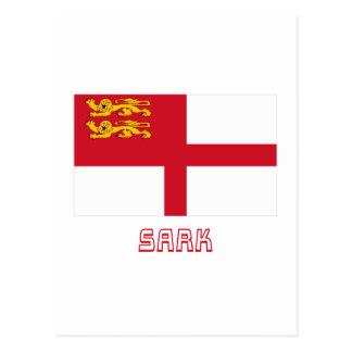 Bandera de Sark con nombre Tarjetas Postales