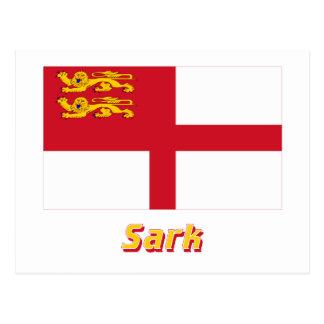 Bandera de Sark con nombre Postales