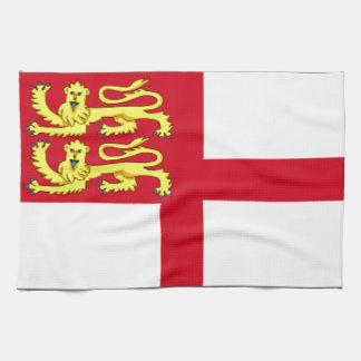 Bandera de Sark Toallas De Mano