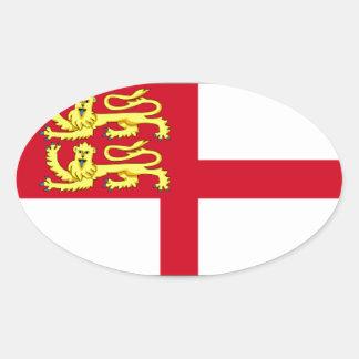 Bandera de Sark Pegatina De Óval