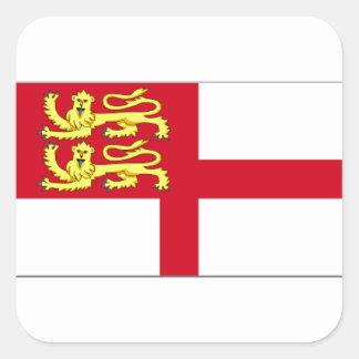 Bandera de Sark Calcomanía Cuadrada