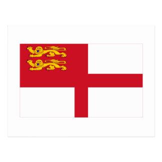 Bandera de Sark Tarjetas Postales