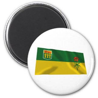 Bandera de Saskatchewan, Canadá Imán Redondo 5 Cm