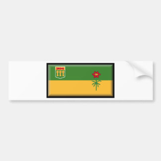 Bandera de Saskatchewan (Canadá) Pegatina Para Auto