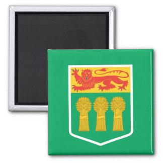 Bandera de SASKATCHEWAN Imán Cuadrado