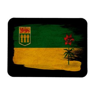 Bandera de Saskatchewan Imán Foto Rectangular