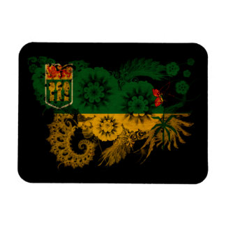 Bandera de Saskatchewan Iman Rectangular