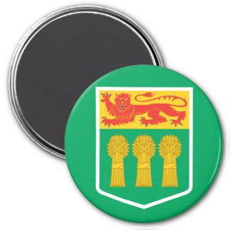 Bandera de SASKATCHEWAN Imán Redondo 7 Cm