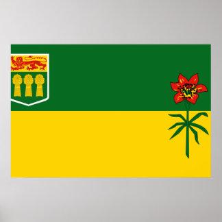 Bandera de Saskatchewan Posters