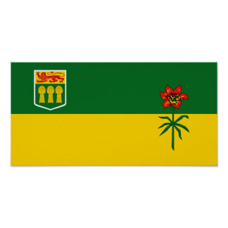 Bandera de Saskatchewan Poster
