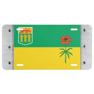 Bandera de SASKATCHEWAN Placa De Matrícula