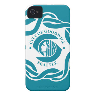 Bandera de Seattle iPhone 4 Case-Mate Protectores