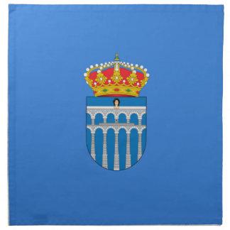 Bandera de Segovia (España) Servilleta