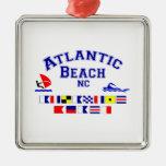 Bandera de señal atlántica del NC de la playa Adorno