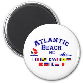 Bandera de señal atlántica del NC de la playa Imán Redondo 5 Cm