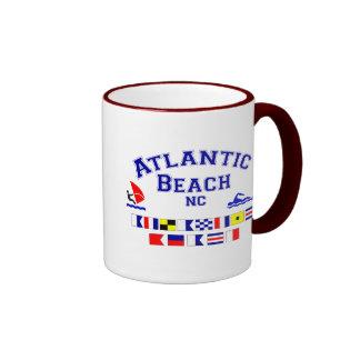 Bandera de señal atlántica del NC de la playa Taza De Dos Colores