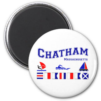 Bandera de señal de Chatham Imán Redondo 5 Cm