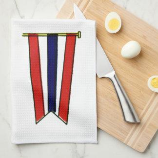 Bandera de señal de la marina de guerra de la nave toalla de cocina