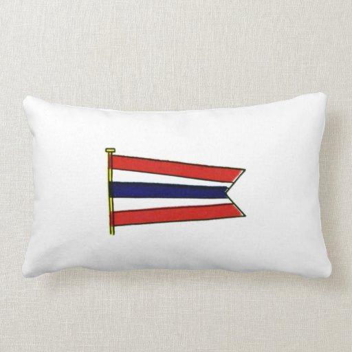 Bandera de señal de la marina de guerra del cojín lumbar