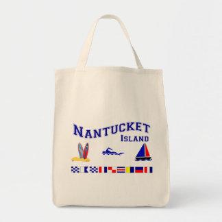 Bandera de señal de Nantucket mA Bolsa De Mano