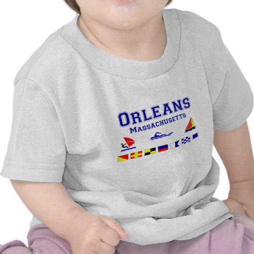 Bandera de señal de Orleans mA Camisetas