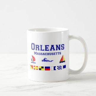 Bandera de señal de Orleans mA Taza De Café