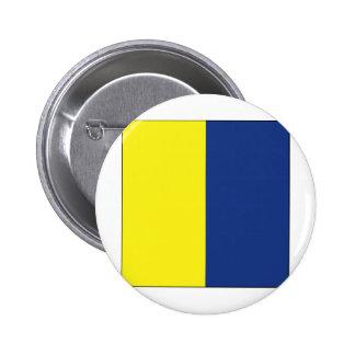 Bandera de señal del kilo (k) pin redondo 5 cm