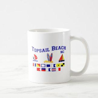 Bandera de señal del NC de la playa de Topsail Taza