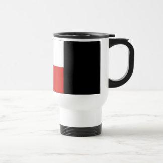 Bandera de señal del uniforme (u) taza de café