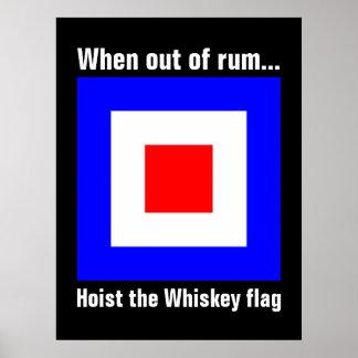 Bandera de señal marítima internacional divertida póster