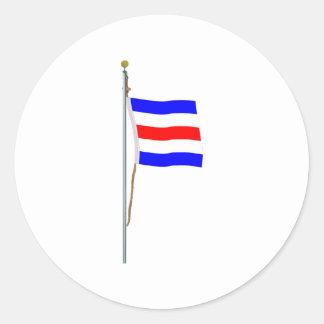 """"""" Bandera de señal náutica """"de Charlie """"sí C """" Pegatina Redonda"""